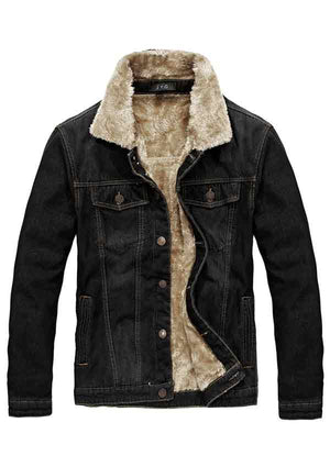 JYG Mens Winter Thicken Coat Casual Military Parka Jacket with Removable Hood