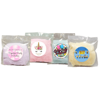 Cotton Candy - Clear Bag with Custom Sticker - 1 oz