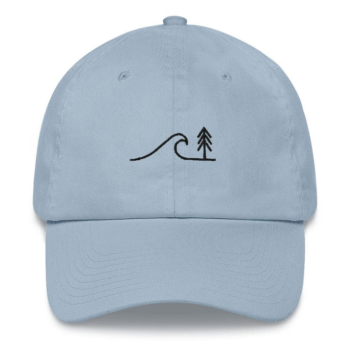 Classic Dad Hat Headwear Cedar & Sea Christian Outdoor Apparel Light Blue