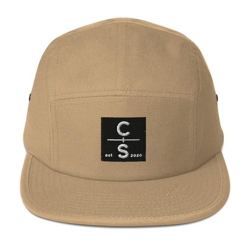 CS Five Panel Cap Headwear Cedar & Sea Christian Outdoor Apparel Khaki