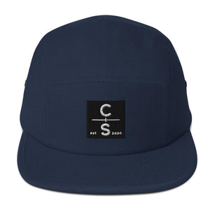 CS Five Panel Cap Headwear Cedar & Sea Christian Outdoor Apparel Navy