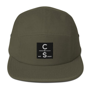 CS Five Panel Cap Headwear Cedar & Sea Christian Outdoor Apparel Olive
