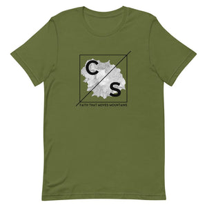 Faith Moves Mountains Tee Shirts Cedar & Sea Christian Outdoor Apparel Olive S