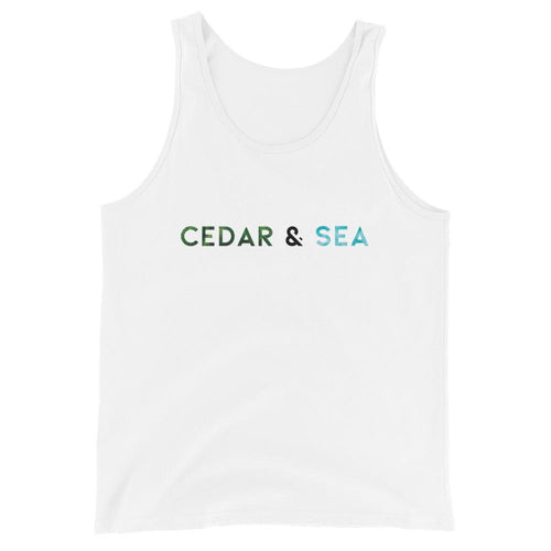 Graphic Tank Tank Top Cedar & Sea Christian Outdoor Apparel White XS