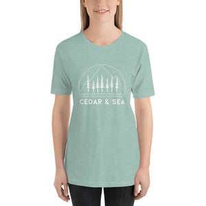 Mountains & Sea Women's Tee Shirts Cedar & Sea Christian Outdoor Apparel