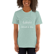 Load image into Gallery viewer, Mountains & Sea Women's Tee Shirts Cedar & Sea Christian Outdoor Apparel