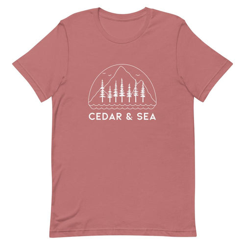 Mountains & Sea Women's Tee Shirts Cedar & Sea Christian Outdoor Apparel Mauve S