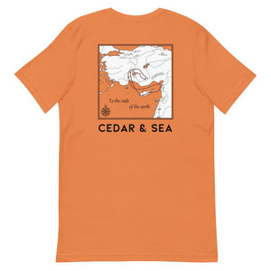 """To the Ends of the Earth"" Tee Shirts Cedar & Sea Christian Outdoor Apparel"