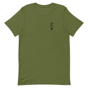"""To the Ends of the Earth"" Tee Shirts Cedar & Sea Christian Outdoor Apparel Olive S"