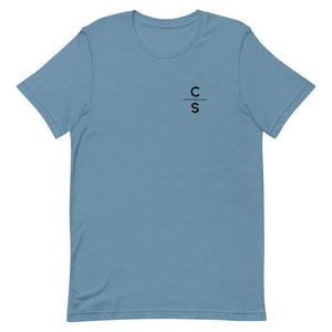 """To the Ends of the Earth"" Tee Shirts Cedar & Sea Christian Outdoor Apparel Steel Blue S"