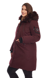 WOMEN'S GRAPE VEGAN DOWN LONG PARKA (PLUS SIZE)