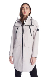 WOMEN'S PLATINUM DRAWSTRING RAINCOAT