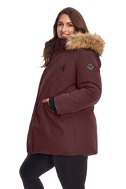 WOMEN'S GRAPE VEGAN DOWN PARKA (PLUS SIZE)