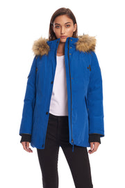 WOMEN'S COBALT VEGAN DOWN PARKA