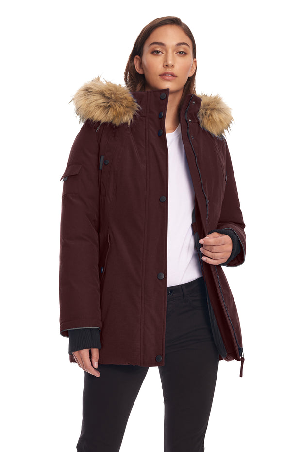 WOMEN'S GRAPE VEGAN DOWN PARKA