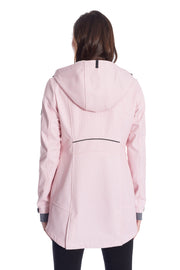 WOMEN'S SOFT PINK FLEECE LINED SOFTSHELL