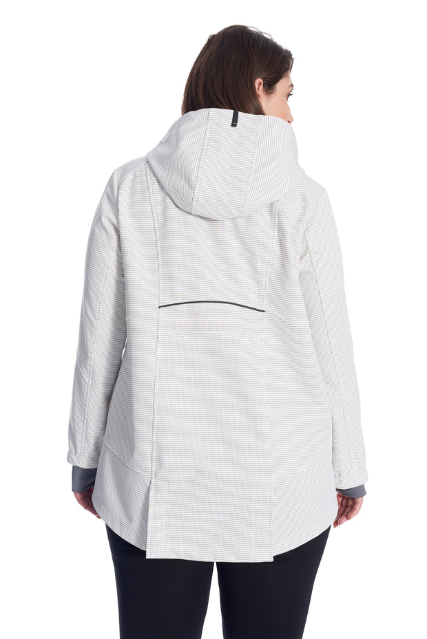 WOMEN'S CREAM FLEECE LINED SOFTSHELL (PLUS SIZE)