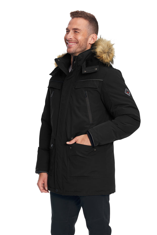 MEN'S BLACK VEGAN DOWN PARKA