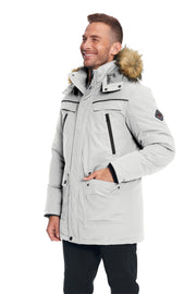 MEN'S CEMENT VEGAN DOWN PARKA