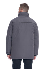 MEN'S DARK GREY VEGAN DOWN PARKA