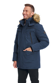 MEN'S NAVY VEGAN DOWN PARKA