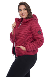 WOMEN'S RASPBERRY VEGAN DOWN LIGHTWEIGHT PACKABLE PUFFER (PLUS SIZE)