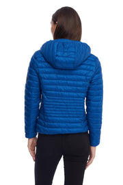 WOMEN'S COBALT VEGAN DOWN LIGHTWEIGHT PACKABLE PUFFER