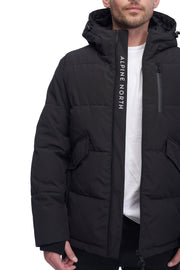 MEN'S BLACK VEGAN DOWN PUFFER JACKET