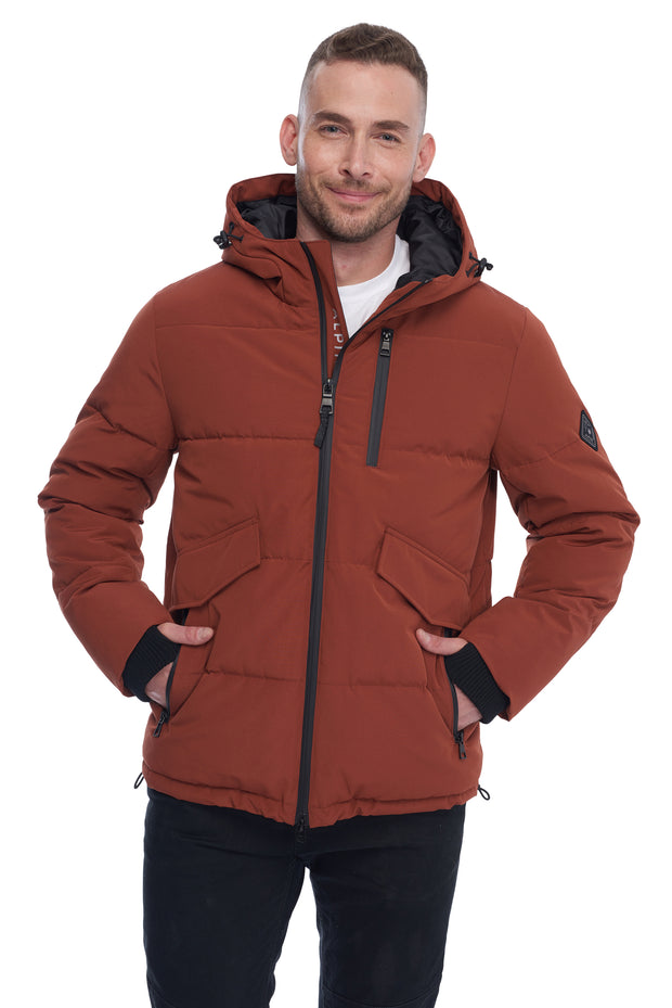 MEN'S RUST VEGAN DOWN PUFFER JACKET