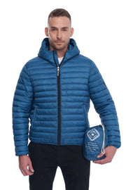 MEN'S TEAL VEGAN DOWN LIGHTWEIGHT PACKABLE PUFFER