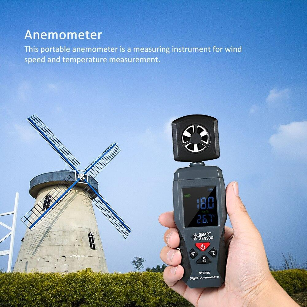 Digital LCD Portable Wind Speed Measuring - Air Velocity Meter