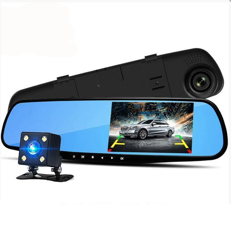 Dual Lens DashCam Vehicle Front Rear Car Camera HD 1080P Video Recorder