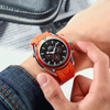 Image of Mens Watch Rubber Strap Automatic Self Wind Mechanical Watch for Men