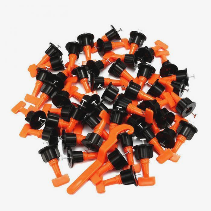 No.1 Reusable Tile leveling System Alignment Spacers 50Pcs - Balma Home