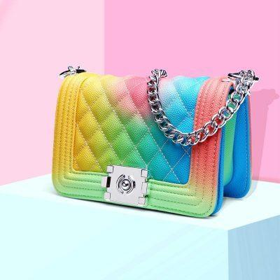 Cross-Body Rainbow Purse Handbag