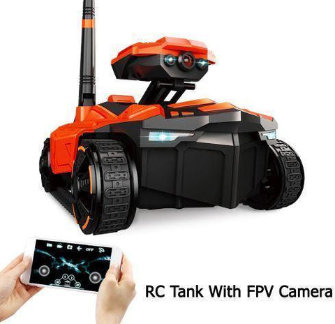 Remote Control Scouting Tank with Real-Time Video HD Camera