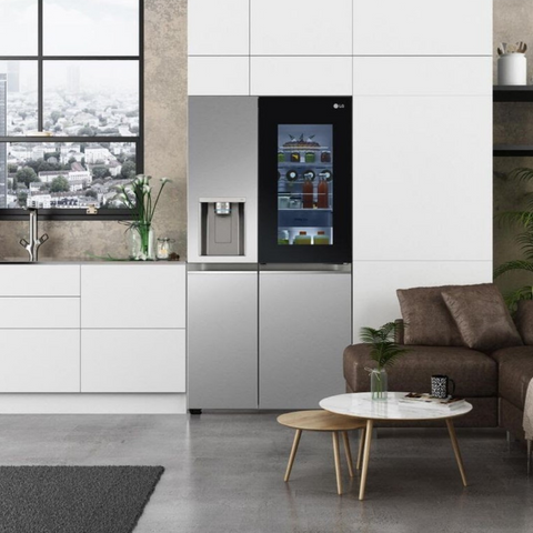 LG Electronics' latest fridge model as featured at CES