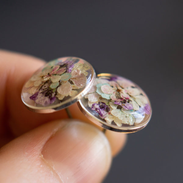 Sterling Silver Wildflower Studs