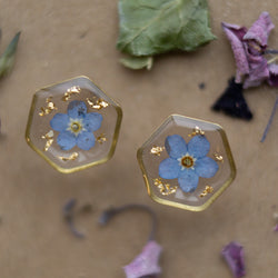 Hexa Forget-Me-Not Studs