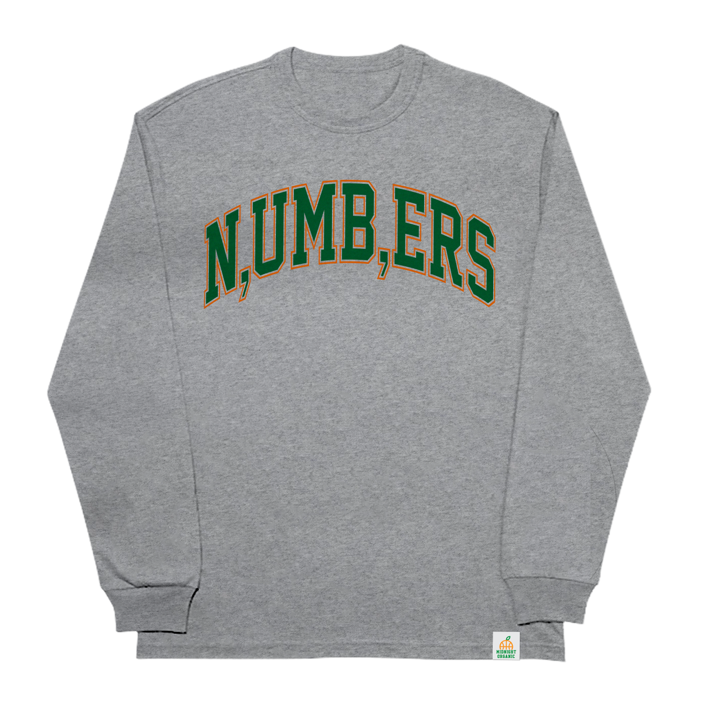 Numbers L/S T-Shirt Heather Grey