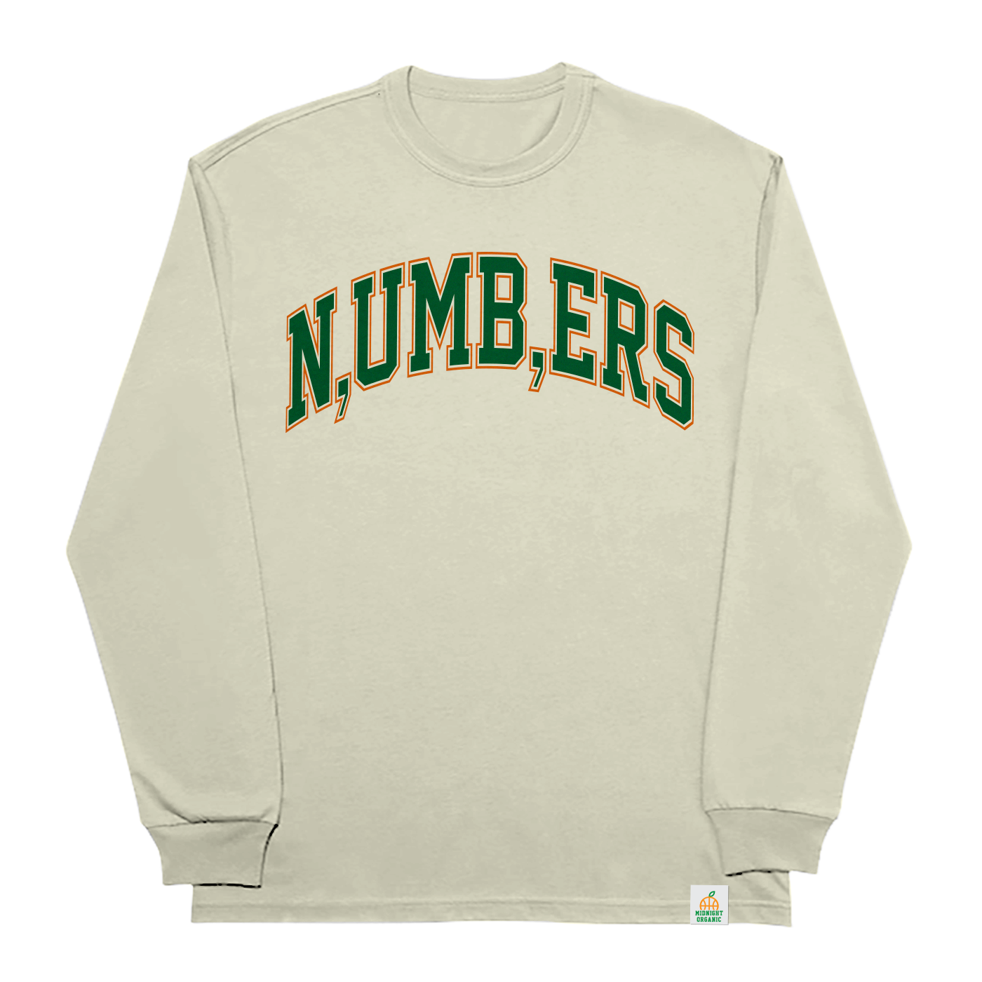 Numbers L/S T-Shirt Natural