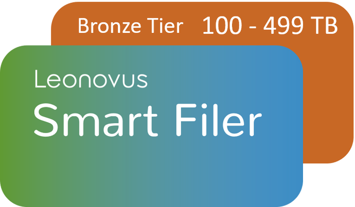 Smart Filer - Bronze Tier:  100-499 TB (price per TB per year)