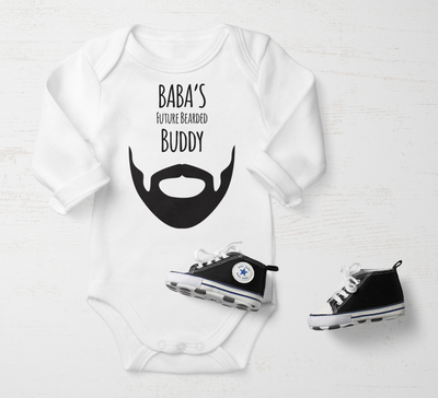 Baby Boy Customized Onsie | Baba's Future Breaded Buddy | Salaam Cards