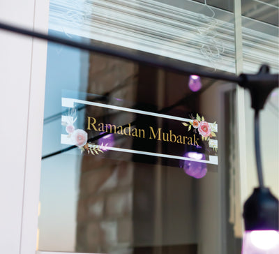 Ramadan Mubarak Window Cling | Salaam Cards | Party Supplies