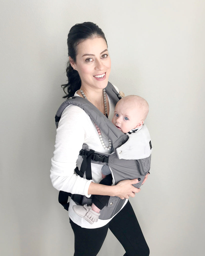 Lille Baby baby carrier and Mama & Little silicone teething jewelry