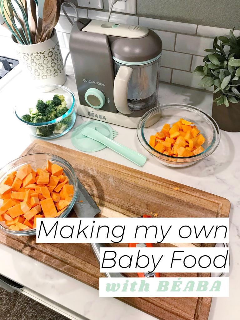 Making my own baby food with Béaba Babycook baby food maker