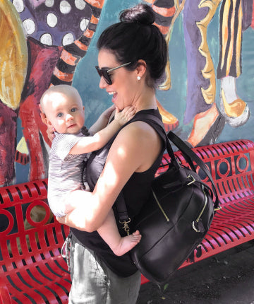 What's in my backpack - Lily Jade leather diaper bag