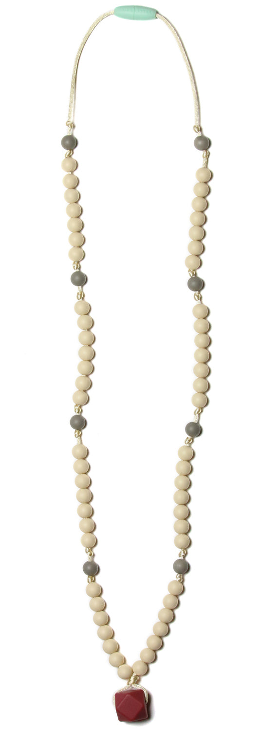 Zooey Marsala Teething Necklace