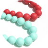 Anna Silicone Teething Necklace - Cayenne