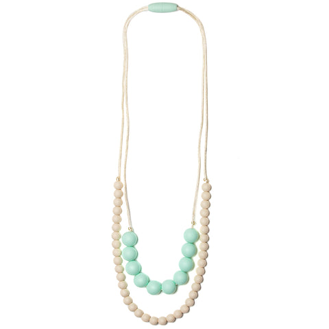 Deila Silicone Teething Necklace - Sweet Mint & Cream